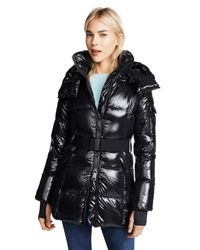 Sam. Black Soho Long Down Jacket