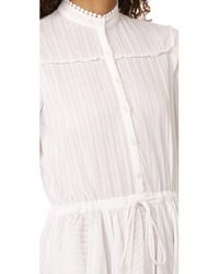 Zadig & Voltaire White Ranil Long Sleeve Dress