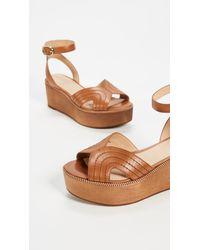 Joie - Brown Gabourey Flatform Sandals - Lyst
