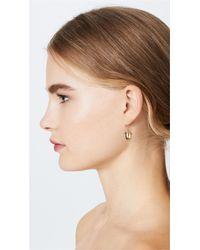 Aurelie Bidermann Metallic Barbizon Acorn & Leaf Pair Earrings