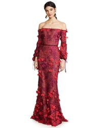Notte by Marchesa Off Shoulder Embroidered Gown