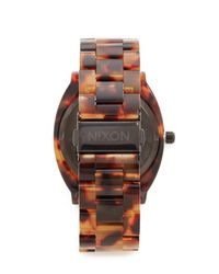 Nixon - Brown Time Teller Acetate Watch - Lyst