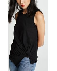 Stateside - Black Knotted Muscle Tee - Lyst