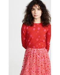 Isa Arfen Red Shrunken Sweater