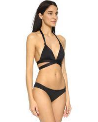 Vitamin A Black Sirena Wrap Bikini Top