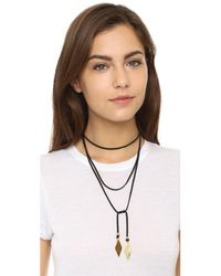 Vanessa Mooney Black Charm Wrap Necklace