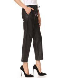 J Brand - Black Amari Leather Pants - Lyst