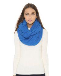 White + Warren | Blue Cashmere Travel Wrap | Lyst