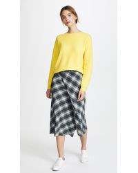 Vince Yellow Classic Cashmere Crew