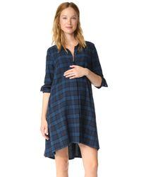 HATCH | Blue Maggie Flannel Dress | Lyst