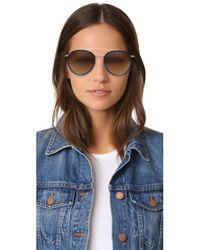 Vedi Vero - Brown Round Rim Aviator Sunglasses - Lyst