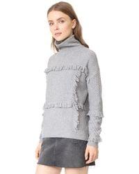 Joie - Gray Paisli Sweater - Lyst
