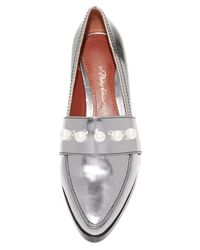 3.1 Phillip Lim - Metallic Quinn Loafers - Lyst