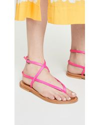 K. Jacques Pink Delta Thong Sandals