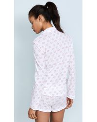 Only Hearts - White Twin Hearts Long Sleeve Shorty Pj Set - Lyst