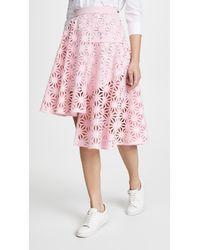 c8f749dae1 Paskal Laser Cut Skirt in Pink - Lyst