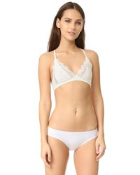 Only Hearts - Natural So Fine Triangle Racer Back Bralette - Lyst