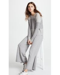Pringle of Scotland Gray Knitted Cashmere Trousers