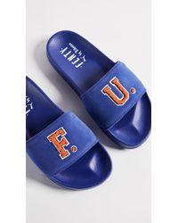 PUMA Blue Fenty X F.u. Leadcat Slides
