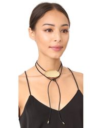 Elizabeth and James | Metallic Lulu Wrap Necklace | Lyst