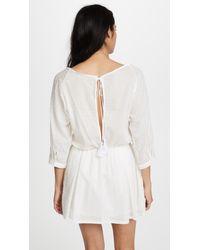Peixoto White Rose Beach Dress