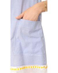 Lemlem   Blue Mwali Shirtdress   Lyst