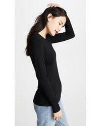 L'Agence Black Crew Neck Tess Shirt