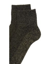 Madewell | Metallic Lurex Ankle Socks | Lyst