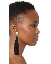 Shashi | Black Sidney Earrings | Lyst