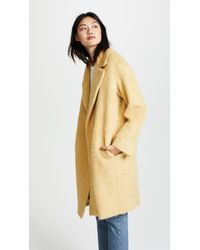 Vince - Multicolor Shaggy Coat - Lyst