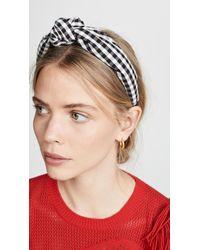 Tanya Taylor Multicolor Gingham Headband