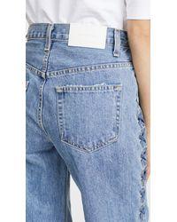 Jonathan Simkhai Blue Embellished Denim Nana Jeans