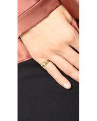 Jacquie Aiche Multicolor Ja Burst Heart Signet Pinky Ring