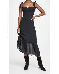 Reformation Black Nikita Dress