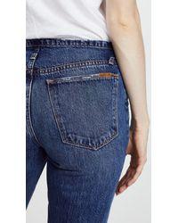 Joe's Jeans Blue The Kass Waistless Slim Straight Ankle Jeans