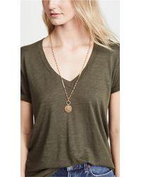Rebecca Minkoff - Metallic Medallion Pendant Necklace - Lyst