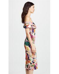 Cushnie et Ochs Multicolor Surrealist Floral Alba Dress