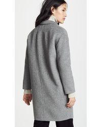 Ottod'Ame Gray Fascino Coat