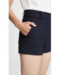 Veronica Beard Blue Carito Shorts