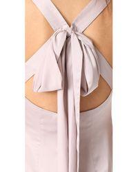 Monique Lhuillier Bridesmaids - Pink V Neck Gown - Lyst