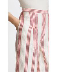 Vilshenko - Red Ashling Stripe Culottes - Lyst