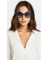 Dolce & Gabbana Multicolor Lace Ortensia Extreme Cat Sunglasses