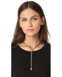 Rebecca Minkoff - Metallic Sphere Y Necklace - Lyst