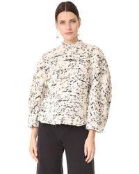 Awake - White Textured Sweater - Lyst