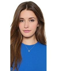Sarah Chloe | Metallic Diamond Letter Gold Necklace | Lyst
