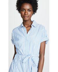 Birds Of Paradis Blue Florence Shirtdress