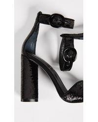 Kendall + Kylie Black Giselle Ankle Strap Sandals
