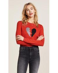 Bella Freud Red Heart Breaker Sweater