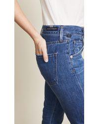 Citizens of Humanity - Blue Emerson Crop Slim Fit Boyfriend Jeans - Lyst