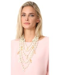 Kenneth Jay Lane - Multicolor Imitation Pearl With Charms Necklace - Lyst